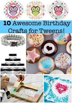 10 Awesome Birthday Party Crafts for Tweens! : Looking for some great craft ideas for kids birthday parties? Here are 10 awesome birthday party crafts for tweens! Perfect for both the birthday party activity as well as the birthday party favor! Birthday Party At Home, Birthday Party Games, Birthday Crafts, Girl Birthday, Birthday Ideas, Husband Birthday, Cake Birthday, Sleepover Party, Birthday Celebration
