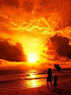 Mother & Child Sunset ~ There's nothing better or more beautiful.