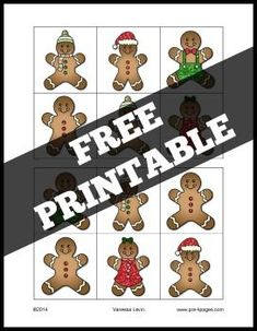 Gingerbread Same and Different Printable Activity for Preschool. Gingerbread picture differences printable activity to help your preschool, pre-k, and kindergarten students develop visual discrimination skills. Preschool Christmas, Noel Christmas, Christmas Activities, Activities For Kids, Christmas Crafts, Italian Christmas, Gingerbread Man Activities, Gingerbread Crafts, Christmas Gingerbread