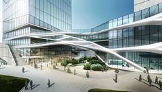 """Hangzhou Civic Sports Center by BLUA   3D-DREAMING """"Architecture from a digital…"""