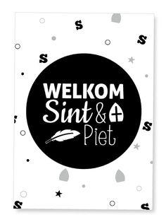 Poster 'Welkom Sint & Piet' #suededesign