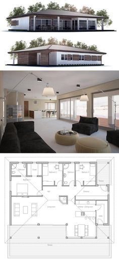 Modern House Plan u2026 Pinteresu2026 - plan de maison simple