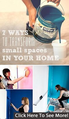 Check out 7 ways to transform small spaces in your home!