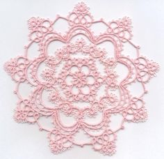 Rose's Round Robin Doily  by Rose Rogers Georgia Seitz Barbara Bruyer Amy Drake