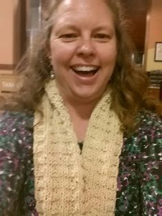 """Louisiana Shepherd's Scarf""!  Pattern and knitting specially designed for Wool of Louisiana by Laurie Bea Knitting.  100% Gulf Coast Native Wool.  About 100 yards of worsted weight, 2014 batch.  Contact us to learn how you can get a free pattern of this scarf!"