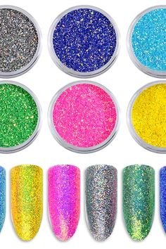 Shiny Nail Glitters Gorgeous Mermaid Nail Powder Dust Colorful Sequins Holographic Pigment For DIY Nail Art Decorations Mermaid Nail Powder, Nail Glitter Powder, Mermaid Nails, Glitter Nail Art, Powder Nails, Glitter Mirror, Glitter Kunst, Glitter Manicure, Nail Art Tool Kit