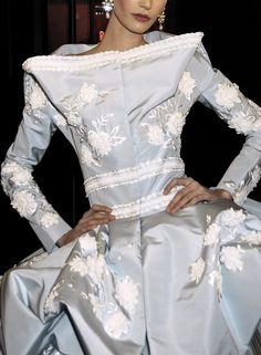 the color of fine wedgewood ceramicware -  Christian Dior Couture Fall 2007
