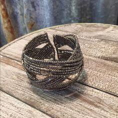 Beaded Cuff Bracelet Beaded Cuff Bracelet in good condition. Bracelet is really pretty. Don't pass this up. Thanks for looking. ❤️❤️❤️ Jewelry Bracelets