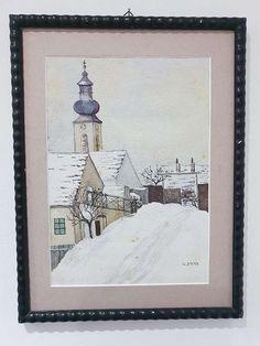 Aquarell signiert. G. Jahn Gems, Frame, Home Decor, Watercolor, Pictures, Homemade Home Decor, Rhinestones, Gemstones, A Frame