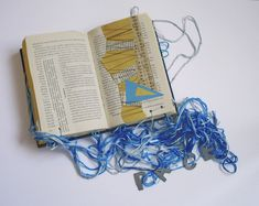 Book Sculpture, Artist's Book, Paper Folding, Wool Yarn, Artists, Life, Author