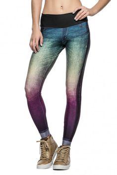 79f5db794 Calça Fusô Rainbow Jeans • LIVE! •  shoponline  fitness  legging  jeans   rainbow