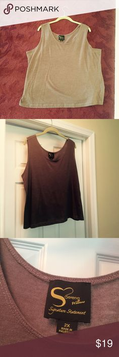 Beautiful taupe tank top, Serena Williams, 2x Beautiful taupe tank top, Serena Williams, Signature Collection, size 2x, very good condition Serena Williams Tops Tank Tops