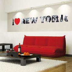 I Love New York I Muursticker