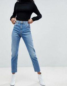 3fb5671fa8e ASOS DESIGN Farleigh high waist slim mom #jeans in pretty bright mid wash  Asos Mom