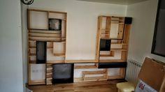 Bibliothèque /meuble télé by Flowroomdesign   #flowroomdesign #industriel #deco #mobilier