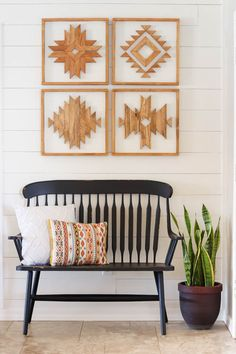 Follow this step by step tutorial to learn how to make beautiful wooden Aztec wall art for your own home.  #diy #aztec #wallart #woodwallart #aztecwallart #homedecor #howto #diyart #diydecor #walldecor