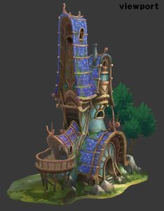 ArtStation - House of Fairy- 3d hand painted, eunkyung LEE