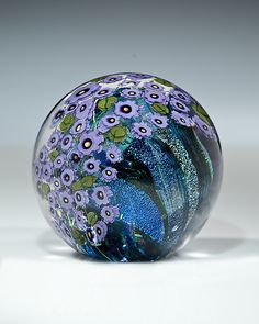 Violets Paperweight by Shawn Messenger: Art Glass Paperweight available at www.artfulhome.com