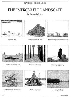 The Improvable Landscape - by Edward Gorey