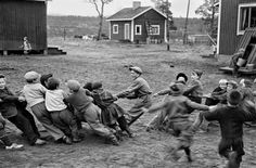 FINLAND. Village of Naarva. Students of a country school during their recreation. 1948.