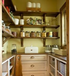 Pantry! Love the green walls