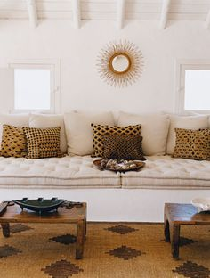A French Mattress-Style Cushion for my Window Seat - Driven by Decor Style At Home, Home Design, Interior Design, French Interior, Diy Design, Design Trends, Design Ideas, Window Seat Cushions, Bench Cushions