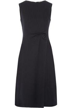 BOTTEGA VENETA Ruched Wool-Crepe Midi Dress. #bottegaveneta #cloth #dresses