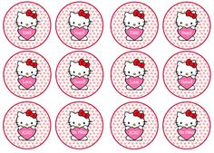 Diy Free Hello Kitty Cupcake Toppers Free Birthday Party