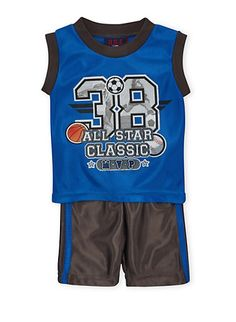 Baby Boy Athletic Tank Top and Shorts with 38 MVP Graphic