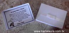Karla Laura Convites, Lembranças e Papelaria Personalizada: Caixa para Pais e Padrinhos - Daiane e Charles
