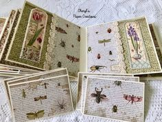 Cheryl's Paper Creations: *Sold* Stamperia Spring Mini Album By Cheryl's Paper Creations Mini Album Tutorial, Altered Books, Hello Everyone, Cheryl, Homemade Cards, Mini Albums, Punch, Decorative Boxes, My Etsy Shop