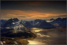 Lofoten islands, Norway Wild arctic mountains by steinliland