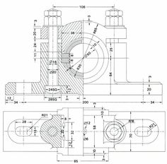 Assembly And Details Machine Drawing Pdf Plummber Block