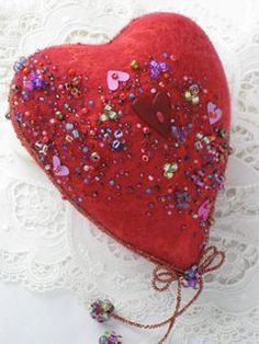Needle Felted & Wet Felted Heart Tutorial
