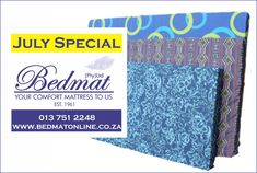 Only 8 Days left. JULY SPECIAL: Cost Cutter foam Mattresses 10% discount on all thickness and density Buy at www.bedmatonline.co.za or phone 013 751 2248 Perfect for camping, caravaning and outdoors www.bedmatonline.co.za #beds #mattress #linen #pillows
