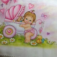 Pintura em Tecido/Enxovais/Apostilas de pintura em tecido - Mossoró/RN Baby Sheets, Seed Packaging, Baby Shower Cookies, Kids Patterns, Baby Birth, Antique Stores, Fabric Painting, Baby Quilts, Cute Kids