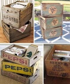 Modern Country Designs: Wooden Crates