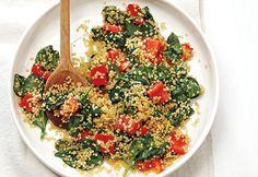 Sauté de #quinoa et d'épinards #epinards