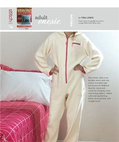 OMG, yes! FREE! (Be sure to check out my verified free sewing patterns board!) ADULT ONESIE - Media - Sew Daily