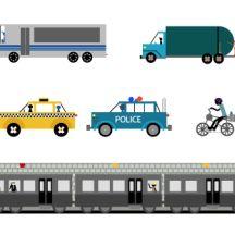 乗り物 建物イラスト ベクタークラブ イラストレーター素材が無料 タクシー イラスト 乗り物 イラスト