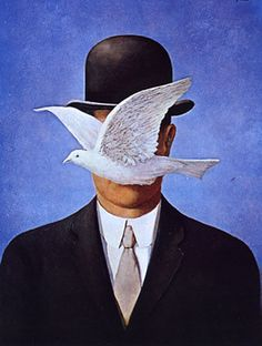 the man in the bowler hat - rene magritte   1965