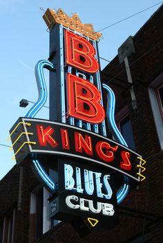 B.B. King Blues Club marquee sign in Memphis