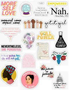 Empowerment sticker pack girl power empowerment feminism get it girl the future is female black empowerment be want you want to be woman black lives matter activist sticker pack overlays edits hydroflask stickers laptop stickers phone case stickers trendy cute aesthetic tumblr niche popular teen teenager artsy art hoe basic teen