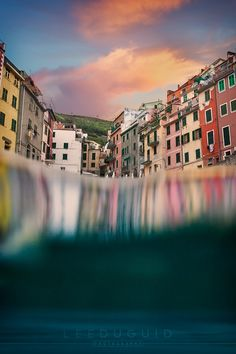 """Over Under Cinque Terre - Riomaggiore, photographed from the ocean with my trusty Aquatech underwater housing.  Web: <a href=""""http://www.leeduguid.com.au"""">leeduguid.com.au</a> Join me: <a href=""""http://www.leeduguid.com.au/photography-tour-cambodia.php"""">Cambodia 2016</a> Learn: <a href=""""http://www.leeduguid.com.au/blog/education/photoshop-tutorials/"""">Photoshop Tutorials</a>"""