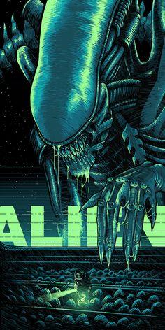 Featured Artist - Luke Preece and Predator - Home of the Alternative Movie Poster -AMP- Alien Movie Series, Alien Film, Alien Art, Alien Movie Poster, Alien 1979, Alien Vs Predator, Predator Art, Arte Horror, Horror Art