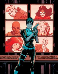 Maria Hill was the director of S. after Nick Fury went awol. She now supervises the Avengers on behalf of Steve Rogers. Marvel Films, Marvel Heroes, Marvel Dc, Marvel Comics, Cosmic Comics, Marvel Women, Maria Hill, Secret Avengers, New Avengers