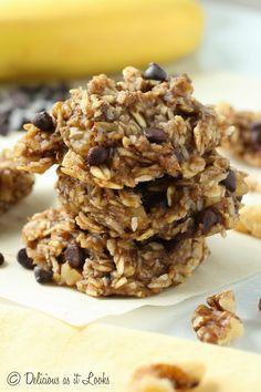 No Added Sugar Banana Oat Cookies {Gluten-Free, Vegan, FODMAP Friendly}  /  Delicious as it Looks