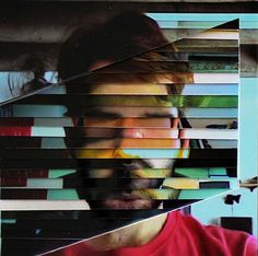 These portraits photographed and deconstructed by Lucas Simões involve ten photos that are cut and then layered between sheets of acrylic to produce this very abstract collage effect.