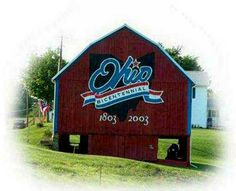 logo of Ohio Bicentennial painted on barns throughout Ohio |  88 Counties 88 of these were painted (actually more).  They still can be seen.  #MBCL