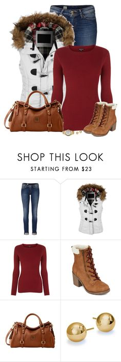 """""""Untitled #515"""" by denise-schmeltzer ❤ liked on Polyvore featuring Tommy Hilfiger, LE3NO, Warehouse, POP, Dooney & Bourke and Blue Nile"""